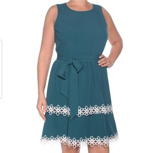 🆕 MAISON JULES Tiered Fit/Flare Sleeveless Dress
